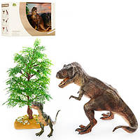 Динозавры коллекционные WS1610 2 шт с деревом