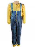 Пижама утепленная для мальчиков оптом, Minions, 3-8 лет,  № 831-950
