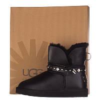 Угги женские кожаные UGG AUSTRALIA T16005 черные