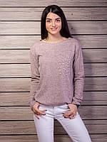 Теплый свитер женский с бусинами p.42-48 VM2119-2