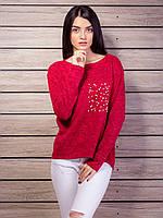 Теплый свитер женский с бусинами p.42-48 VM2119-5