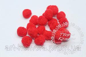 Помпоны красные 1,5 см, в упаковке 25шт.