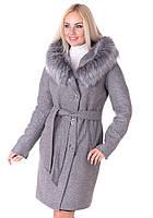 Зимнее пальто Vol Ange  Алиса (42-50) Серый