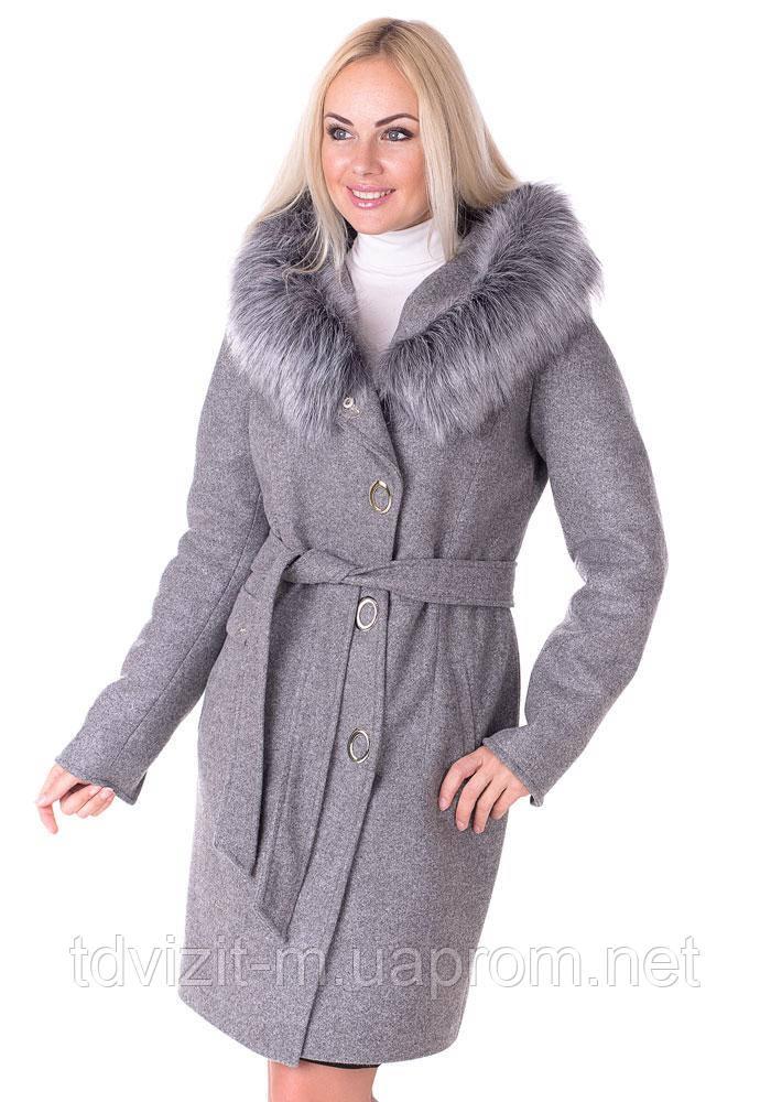 735cda492a543 Зимнее пальто Vol Ange Алиса (42-50) Серый, цена 1 400 грн., купить ...