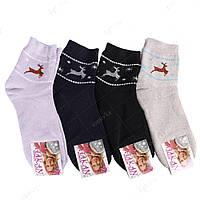 Махровые женские носки с оленями НЖ0052