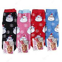 Теплые женские носки махровые с дедом морозом НЖ0053
