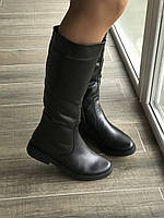 Сапоги из натуральной черной кожи №80-1 (сандра-4), фото 1