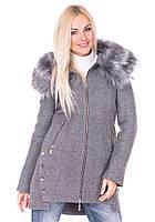 Зимнее пальто Vol Ange Грейс (42-50) Серый