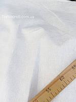 Льняная жаккардовая ткань, белого цвета (шир. 160 см), фото 1
