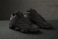 """Кроссовки мужские Nike Air Jordan 13 Retro""""Black Anthracite, материал - текстиль+вставки из кожи"""