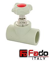 Кран вентильный PPR 25 мм полипропиленовый FADO Италия