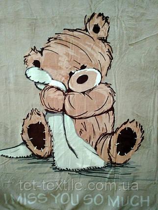 """Плед детский из микрофибры """"Медвежонок Тедди"""" светлый (110х140), фото 2"""