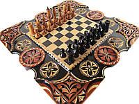 """Шахматы и нарды в одном эксклюзивном подарке """"Карлик"""", фото 1"""