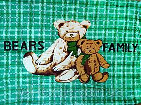 """Плед детский из микрофибры """"Медвежья семья"""" (110х140)"""