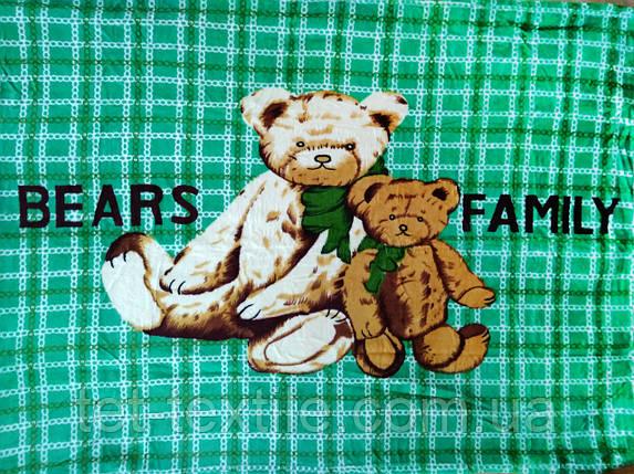 """Плед детский из микрофибры """"Медвежья семья"""" (110х140), фото 2"""