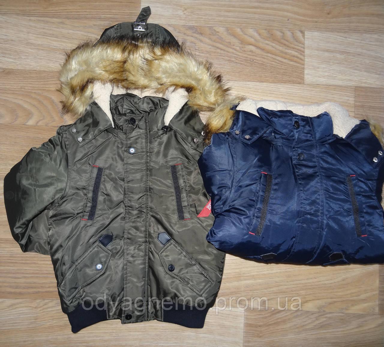 Курточка на меховой подкладке для мальчиков S&D оптом, 134-164 pp.