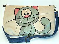 Женская сумочка кот Улыбака, фото 1