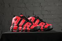"""Кроссовки баскетбольные Nike Air More Uptempo """"Infrared"""", материал - натуральная замша"""