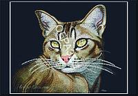 Схема для контурной вышивки бисером «Кошечка»
