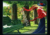 Схема для контурной вышивки бисером «В парке»