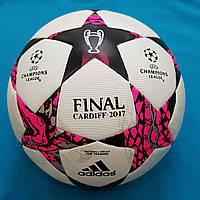 Мяч футбольный Adidas Final Cardiff 2017 (бело-розовый)