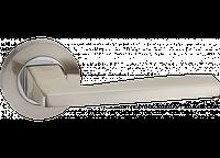 Дверная ручка на розетке MVM A-1220 SN/CP (матовый никель/полированный хром)