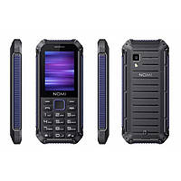 Защищенный кнопочный телефон на 2 сим карты Nomi i245 X-Treme чёрно-синий