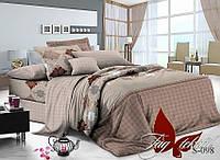 Постельное с компаньоном , семейный комплект, ткань сатин , состав  хлопок, пододеяльник (2 шт) 150x215, S-098