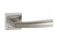 Дверная ручка на розетке MVM A-1355 SN/CP (матовый никель/полированный хром)