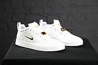 Мужские кроссовки Nike Tiempo Vetta White, материал - кожа, подошва - вулканизированная пена