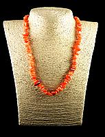 Крошка из перламутра оранжевая 90см