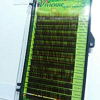Ресницы для наращивания Vivienne Safari Collection, темно коричневые L 0.1 8-14 mm