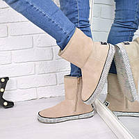 Угги женские Luxury пудра 3876 36 и 41 р-р, зимняя обувь