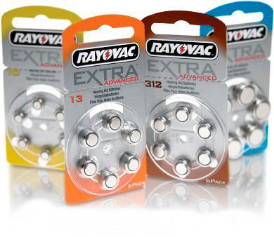 """Батарейки для слухових апаратів """"Rayovac Extra"""", 6 шт. в блістері"""