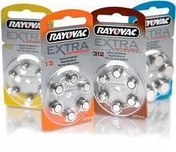 "Батарейки для слуховых аппаратов ""Rayovac Extra"", 6 шт. в блистере"