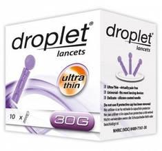 Ланцет (скарификатор) медицинский стерильный Дроплет 30G, 10 шт, Польша