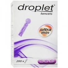 Ланцет медичний стерильний Дроплет (Droplet) 30G (0.31 мм), 200 шт, Польща