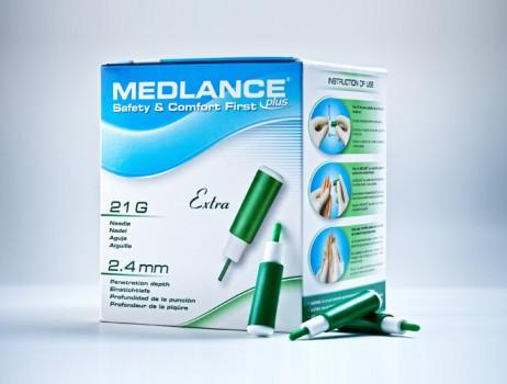 Ланцет автоматический медицинский Медланс плюс (MEDLANCE plus), зеленый, экстра (extra), 20шт, Польша