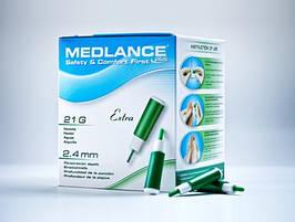Ланцет автоматичний медичний Медланс плюс (MEDLANCE plus), зелений, екстра (extra), 20шт, Польща