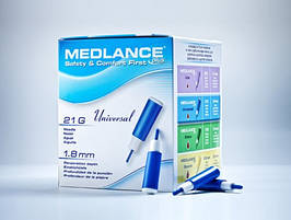 Ланцет автоматический медицинский Медланс плюс (MEDLANCE plus), синий, универсальный (universal), 20шт, Польша