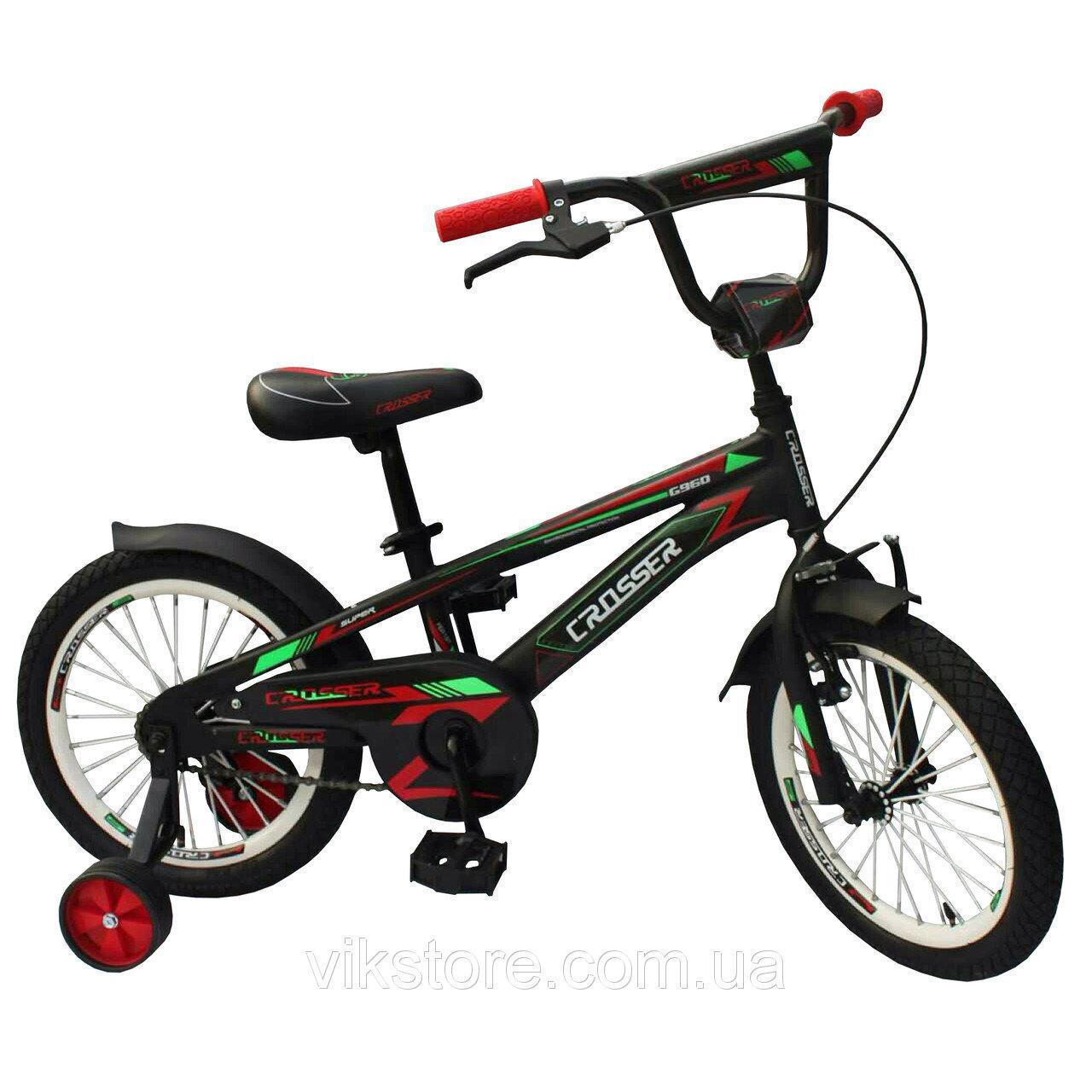"""Детский велосипед CROSSER G 960 16""""  Черный"""