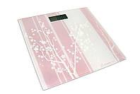 Весы напольные электронные на стеклянной платформе «Дерево» Момерт (Momert 5848-8), до 180 кг, Венгрия
