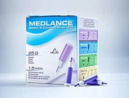 Ланцет автоматичний медичний Медланс плюс (MEDLANCE plus), рожевий, легкий (light), 20шт, Польща