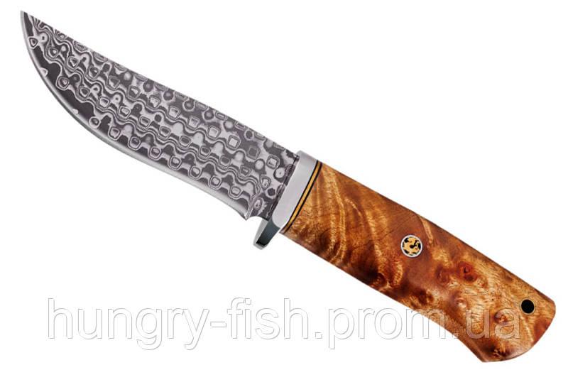 Охотничий нож Ямал (сталь дамаск, ручка береза)