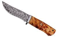 Охотничий нож Ямал (сталь дамаск, ручка береза), фото 1