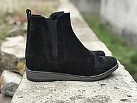 Ботинки № 409-13 черный замш, фото 1
