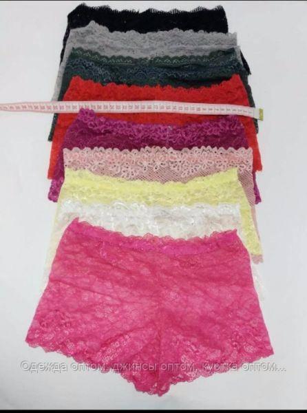 Трусы женские шорты гипюр - Одежда оптом, джинсы оптом, куртка оптом - магазин Семерочка. в Одессе