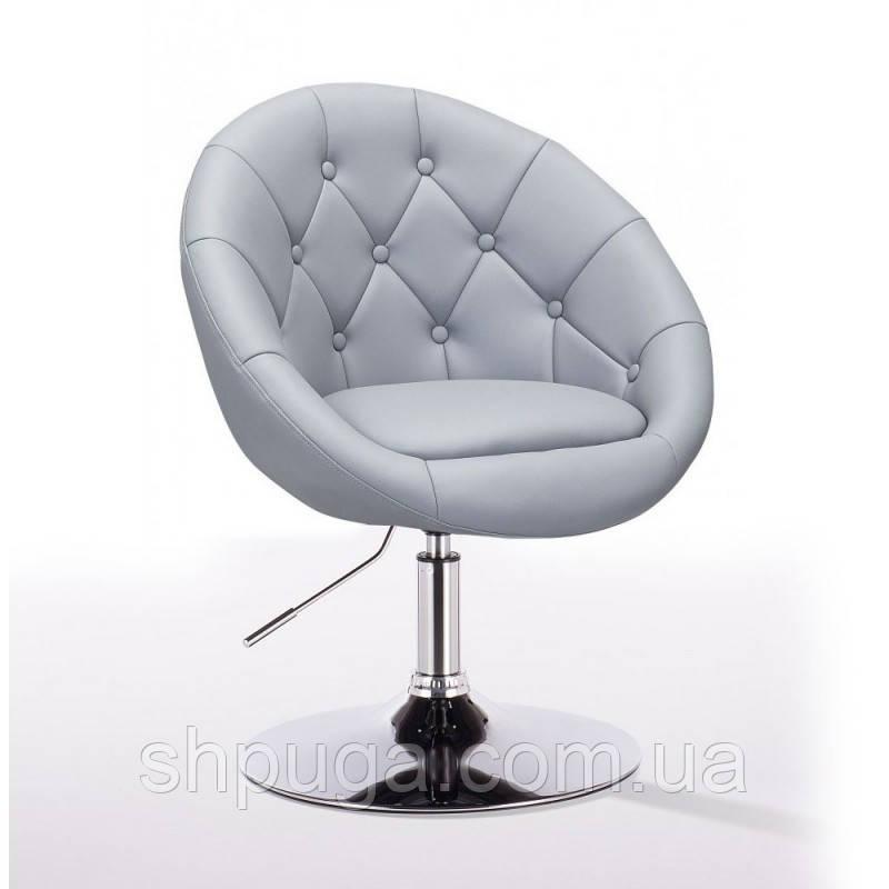 Парикмахерское кресло HC-8516 серое пуговицы