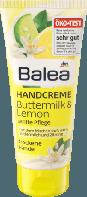Увлажняющий крем для рук и ногтей Balea Handcreme Buttermilk & Lemon- Пахта и лимонник