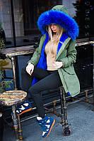 "Женская куртка ""парка"" на меху, фото 1"